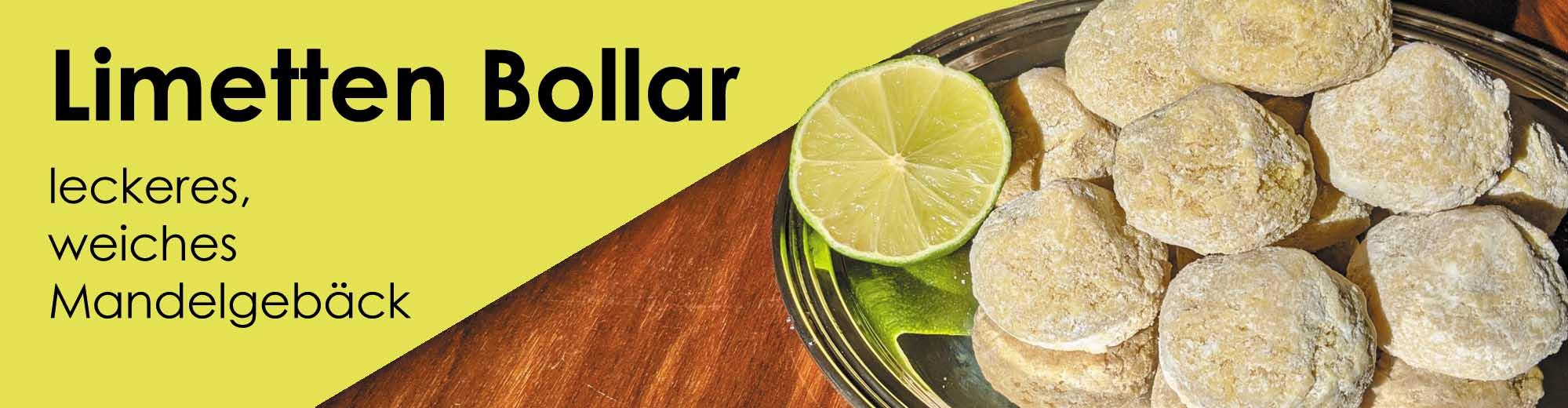 Mandelgebäck - Limetten Bollar