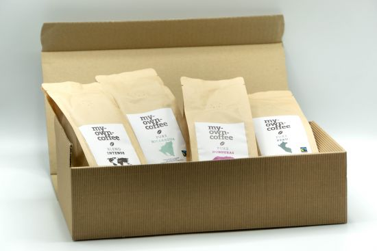 Faire Box 4 x 250g  Fair Trade Kaffee im Präsentkarton