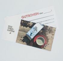 Geschenk Gutschein my-own-coffee (50,00 Euro)