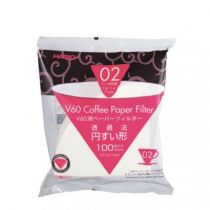 Hario V60 Paper Filter White for 02 Dripper 100 sheets